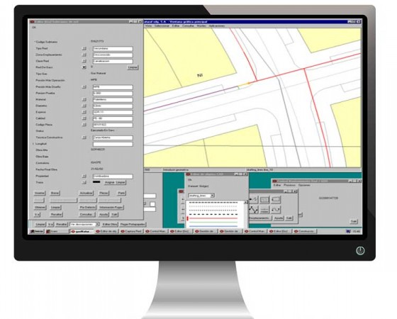 Technical office for updating grids in the Gas natural GIS ICARO system