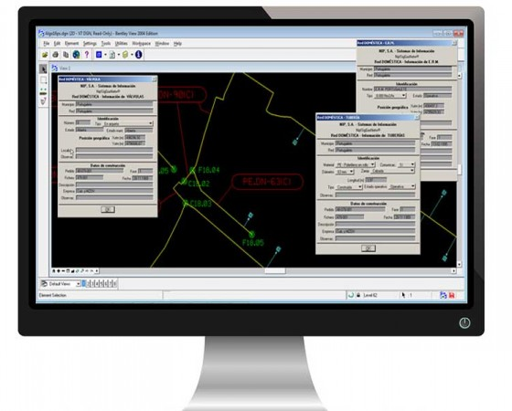Implementation of the GIS for the NATURGAS gas distribution grid
